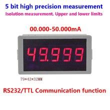 GWUNW BY56W 50.000mA(50mA) 5 bits haute précision ampèremètre RS232 signal dalarme de Communication série