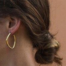 Free Shipping Irregular Earrings for Women Simple Geometric Metal Earring Gift Jewelry