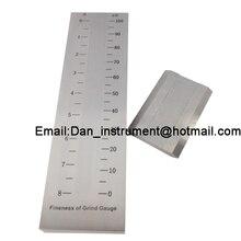 Finesse de cannelure simple dacier inoxydable de haute qualité de la jauge de mouture/jauge de Hegman 0 ~ 100um