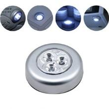 Lampe de poussée de lumière de nuit de robinet de contact sans fil à piles portatif de 3 LED pour la voiture à la maison