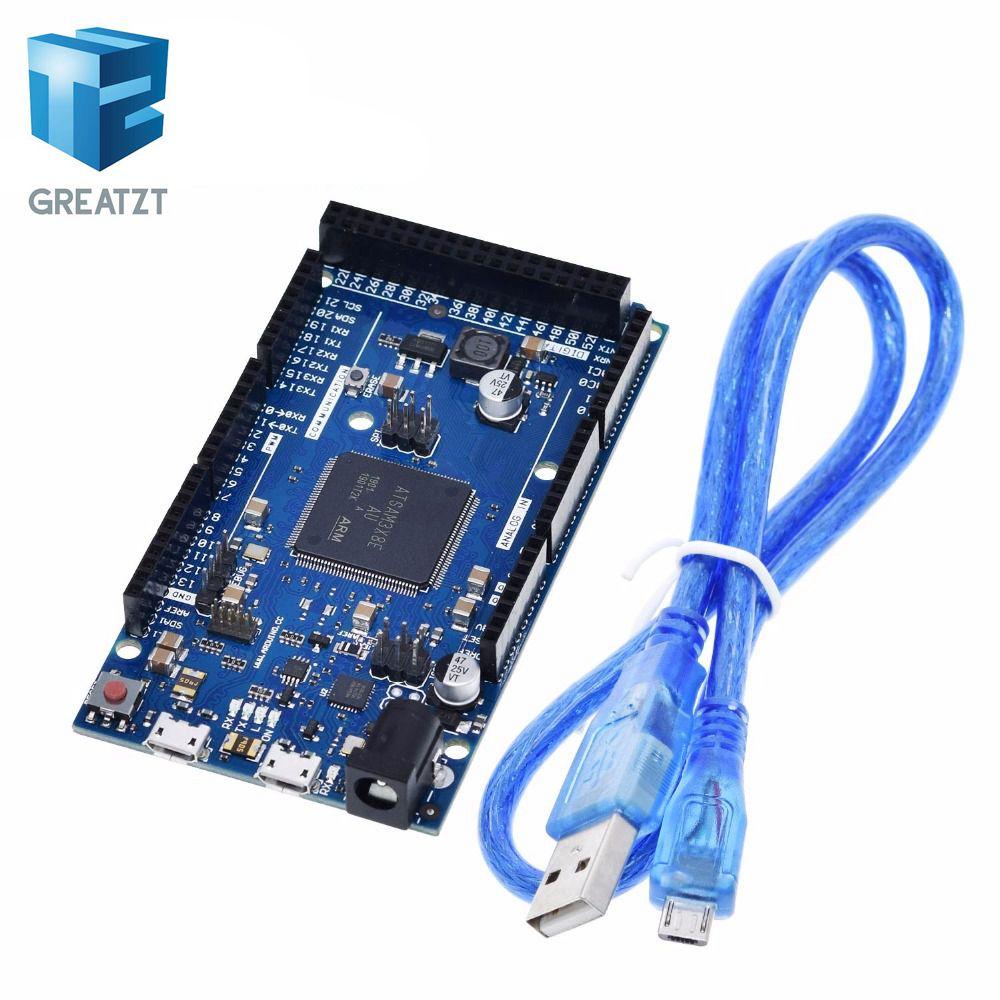 רשמי תואם עקב R3 לוח SAM3X8E 32 סיביות ARM Cortex-M3/Mega2560 R3 Duemilanove 2013 לarduino בשל לוח עם כבל