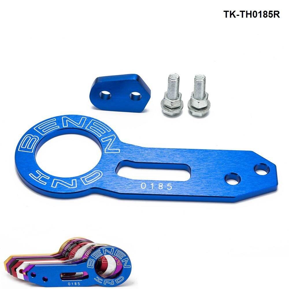 Anodize evrensel arka Tow Hook kütük alüminyum çekme kiti jdm yarış TK-TH0185R