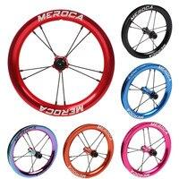 MEROCA Sliding kids Bike Wheel Set 12 inch wheelset K Bike S Balance Bicycle Modification High Rim sealed Bearing Palin Wheels