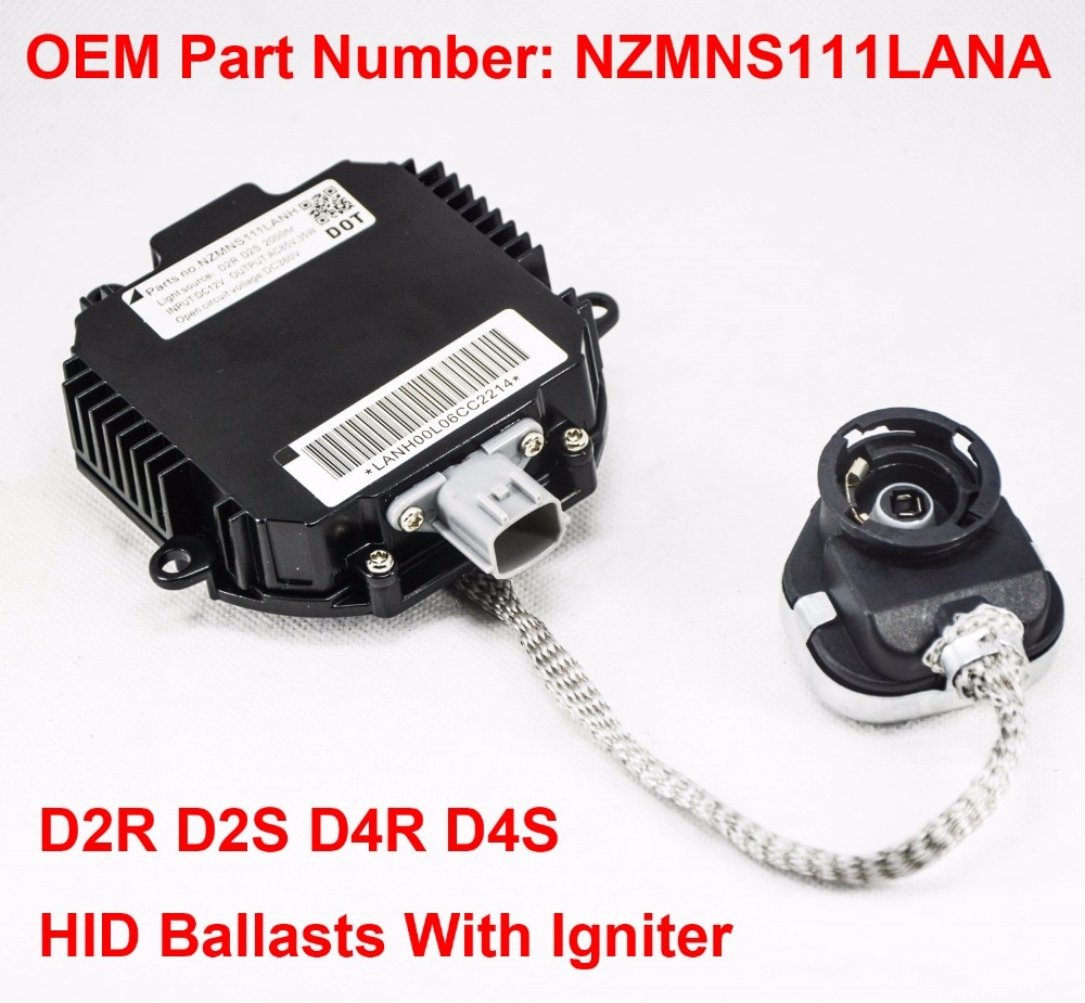 2x 12V 35W D2R D2S OEM HID Xenon Headlight Ballast With Igniter Control Unit OEM Part Number NZMNS111LANA For Nissan Infiniti
