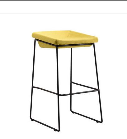 Nordic bar stool modern minimalist home wrought iron industrial wind coffee restaurant mobile phone shop high