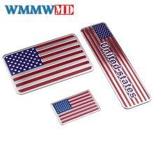 Voiture style 3D métal états-unis drapeau autocollants états-unis emblème royaume-uni Badge décalcomanie pour BMW Audi Ford Cadillac Buick Lincoln Jaguar