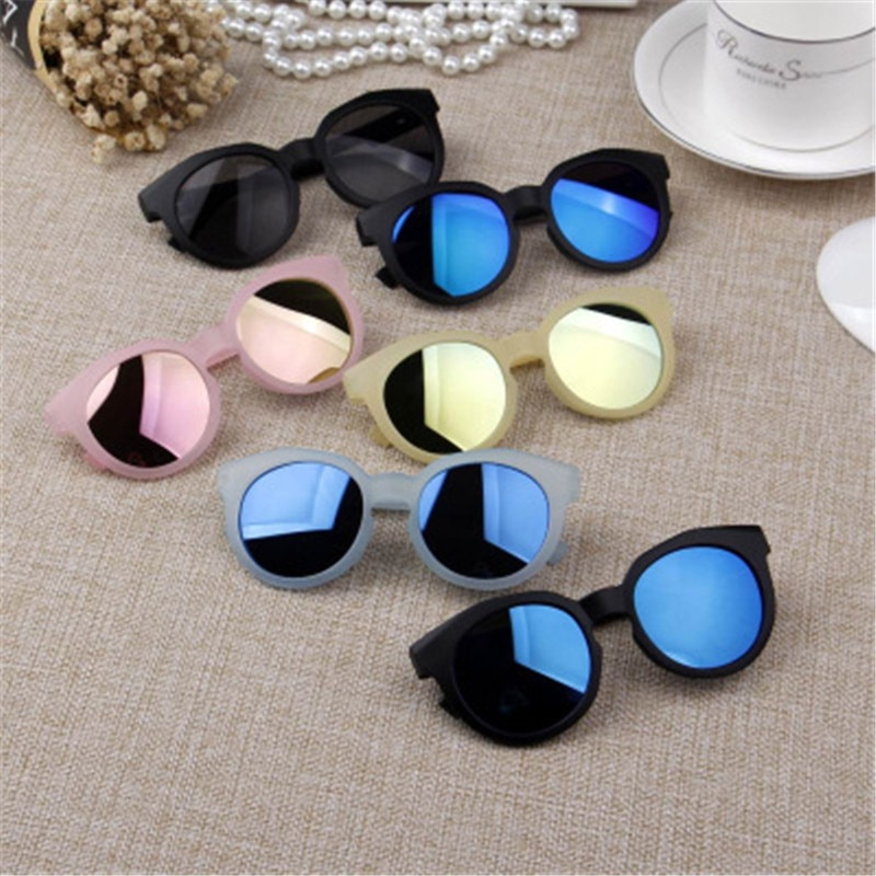 Ywjanp 2018 Fashion Brand Kids Sunglasses Black Children's sunglasses Anti-uv Baby Sun-shading Eyegl