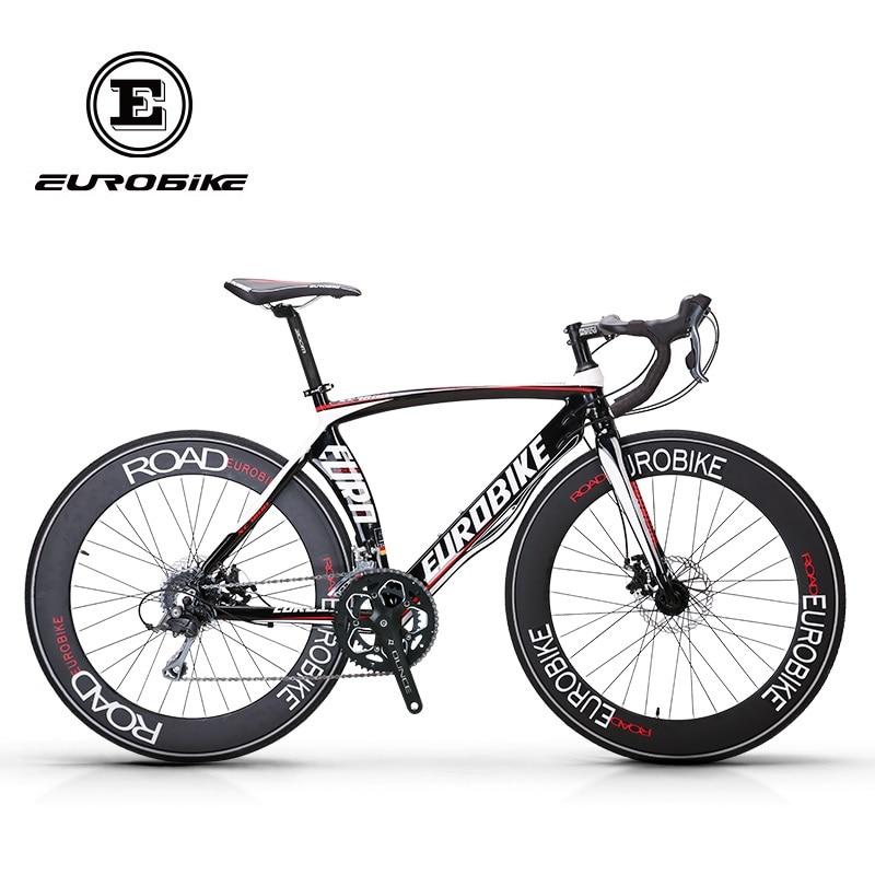 EUROBIKE bicicletas de carretera marco de aluminio Shimano 16 velocidades 700C pulgadas rueda