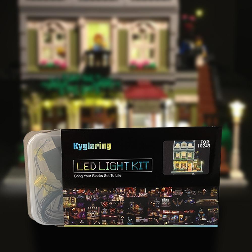 Kit de iluminación led para lego 10243 y 15010, Kit de construcción modelo de restaurante parisino urbano experto creador