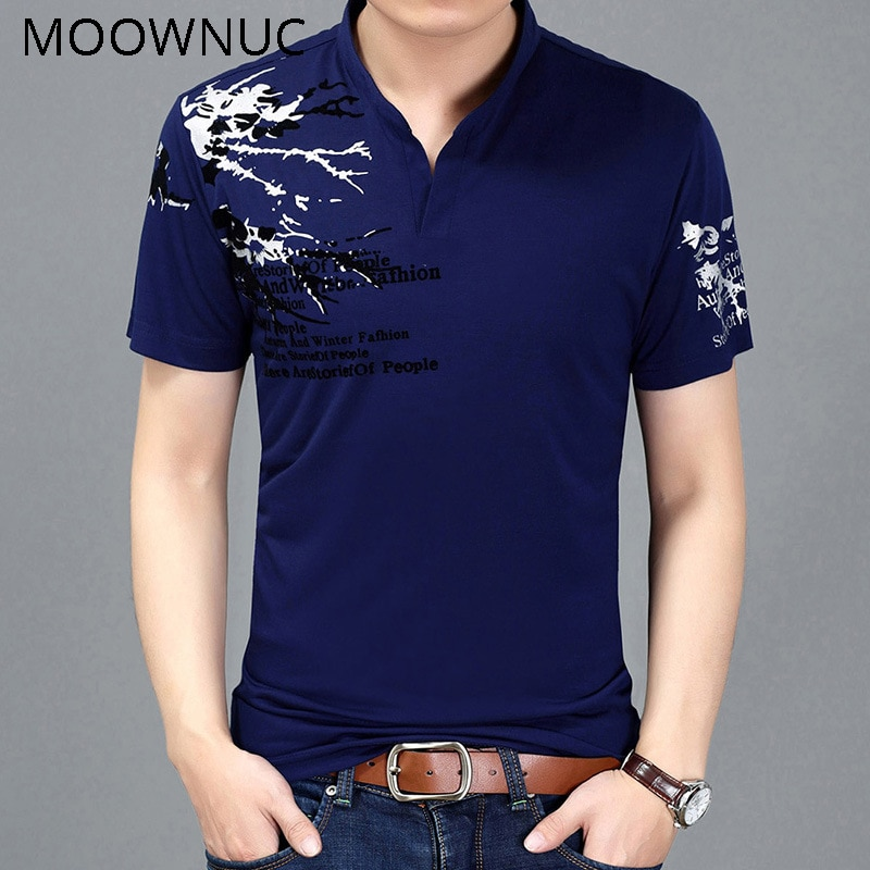 Camisetas Polo estampadas verano 2019 Casual hombres MWC nuevo estilo clásico soporte cuello manga corta MOOWNUC moda ventilación algodón
