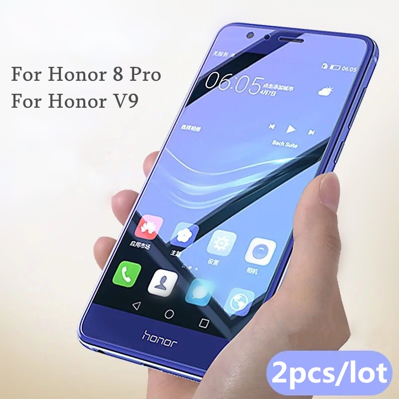 2 шт./лот закаленное стекло для Huawei Honor 8 Pro Honor V9 защита экрана 0,26 мм 9H взрывозащищенное стекло для honor V9/8 pro