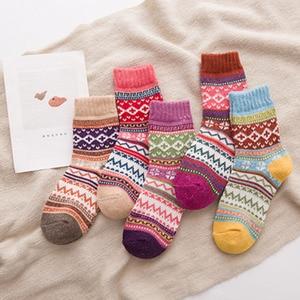 5pairs/lot New 2020 Autumn Winter Women Socks Fashion Nation Style Happy Socks Men Novelty Funny Cotton Long Sokken Calcetines