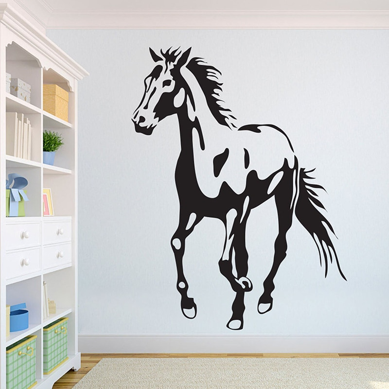Caballo hermosos lobos pared Africana León salvaje orgullo animales diseño de interior para el hogar arte murales de oficina decoración del hogar A3-006