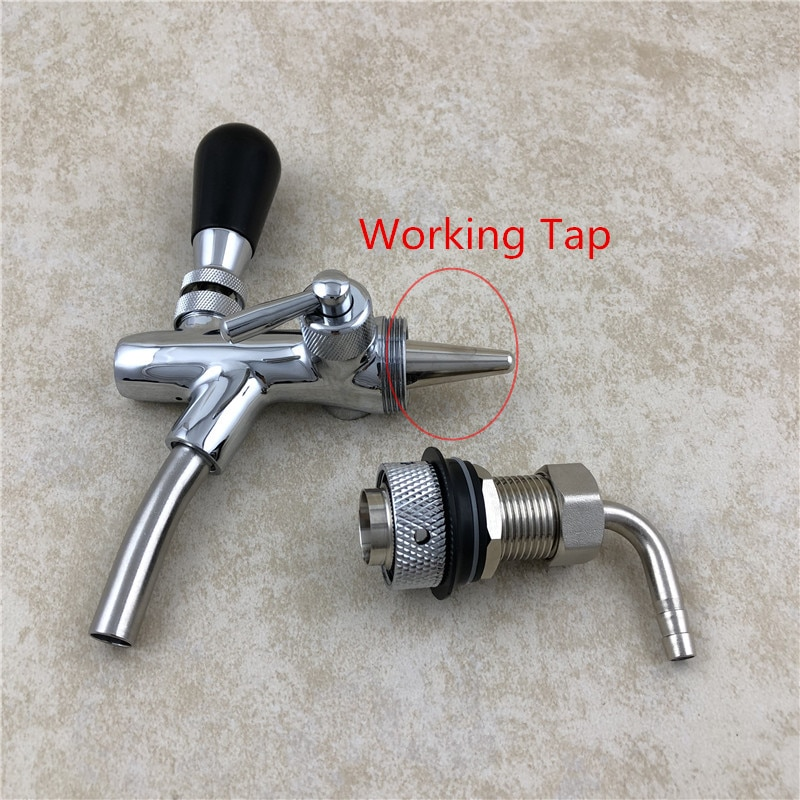 Home Brewing Beer tap Shank G5/8 With Nut Tail Kit for Adjustable Beer Faucet Tap Kegerator Bar Wine Making Tools