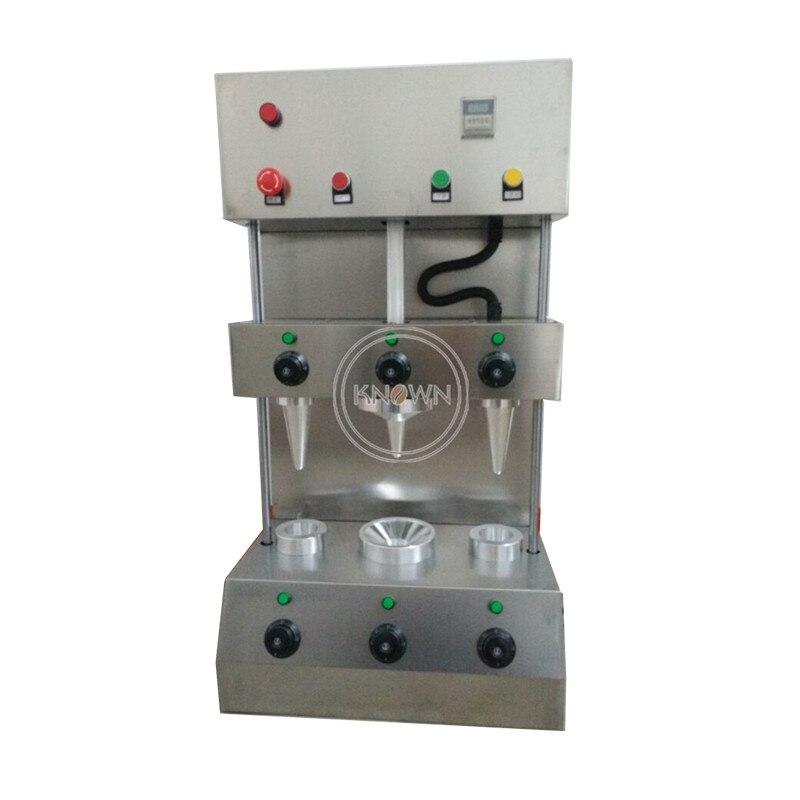 110V 220V 3 cono de pizza formando máquina para pizza cono de moulder de la máquina para la venta