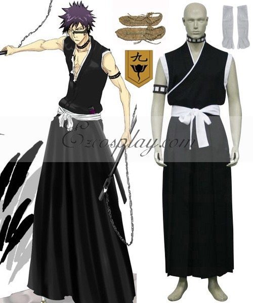 Agent de blanchiment 9th Division Lieutenant Hisagi Shuuhei Costume de Cosplay E001
