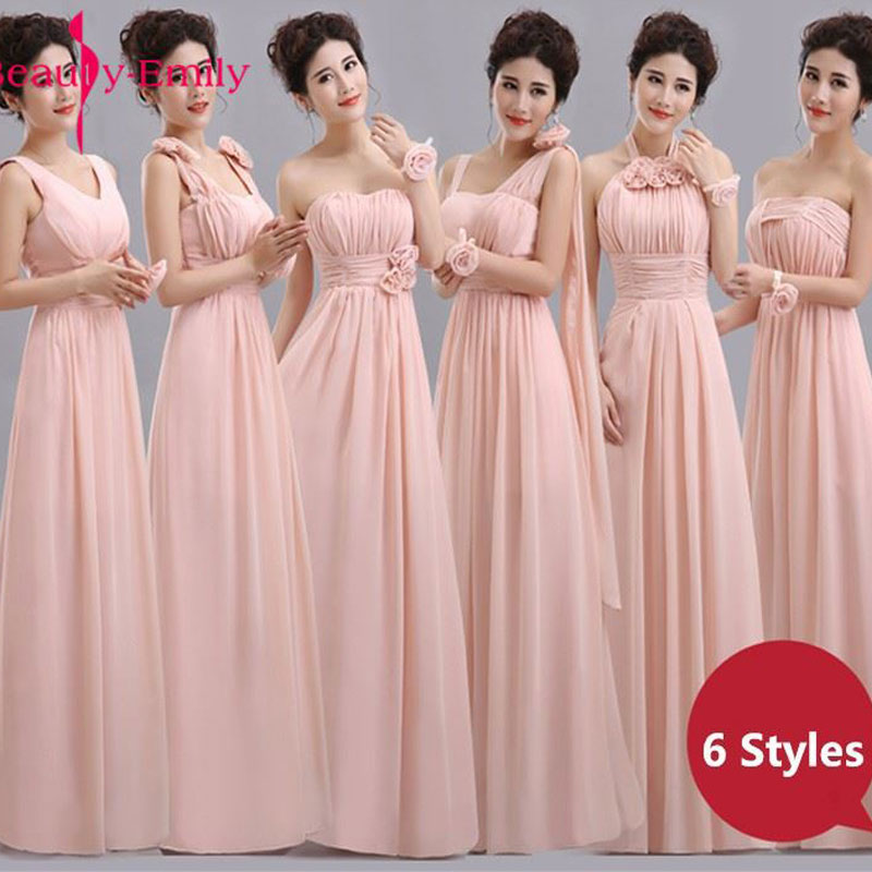 beauty emily a line lace red bridesmaid dresses 2019 long for women wedding party prom women dresses Beauty-Emily Cheap Long Chiffon Blush Pink Bridesmaid Dresses 2020 A-Line Vestido De Festa De Casamen Formal Party Prom Dresses