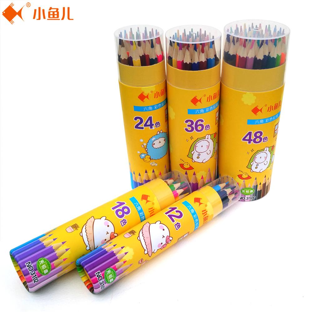 12/18/24/36/48 Colour Pencil Sketch Art Supplies 48 Unique Colors Art Drawing Oily Colored Pencils Set for Adult Coloring Books