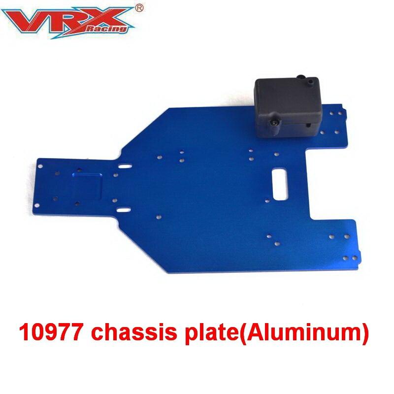 10977 liga De Alumínio placa de Chassis para VRX Corridas De Carro Do RC Brinquedos de Controle Remoto de peças, fit RH1043/1045 Eixo Traseiro Design, cartão do deserto