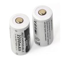 NIEUWE 2pcs 3.7v 2200mAh CR123A oplaadbare lithium batterij 16340 batterij