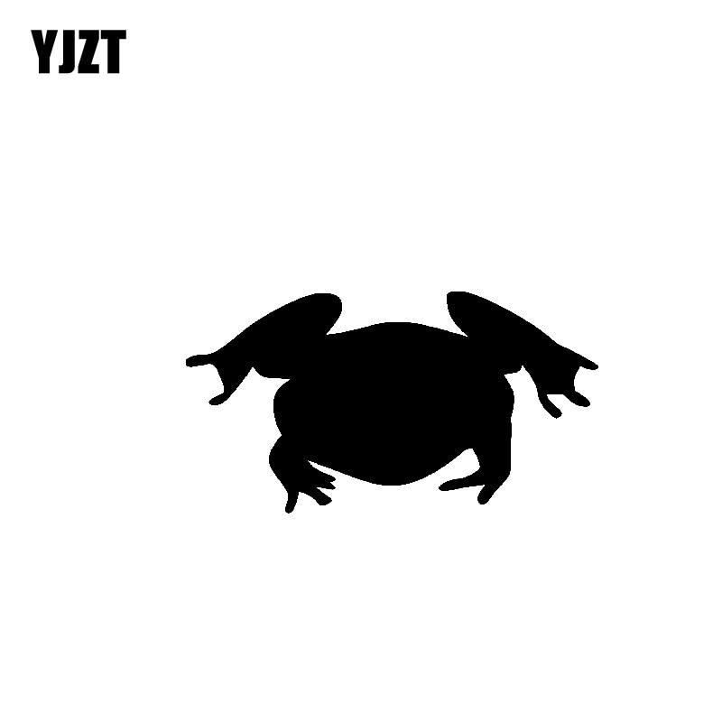 YJZT 14,5 CM * 7,8 CM inusualmente anfibios sapo Bullfrog Shadow Nifty vinilo pegatina agradable coche negro/plata C19-0977