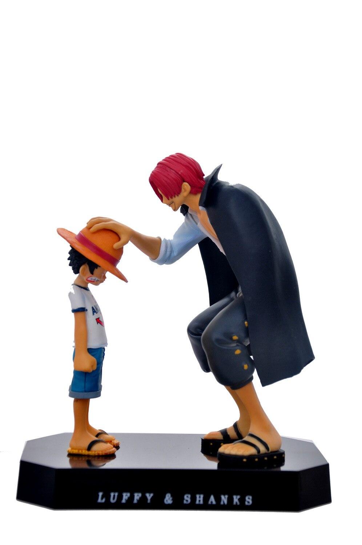 Mono de talla grande de una pieza de 18cm D. Figuras de acción Luffy Shanks Anime PVC juguetes figuras de juguete de coleccionismo