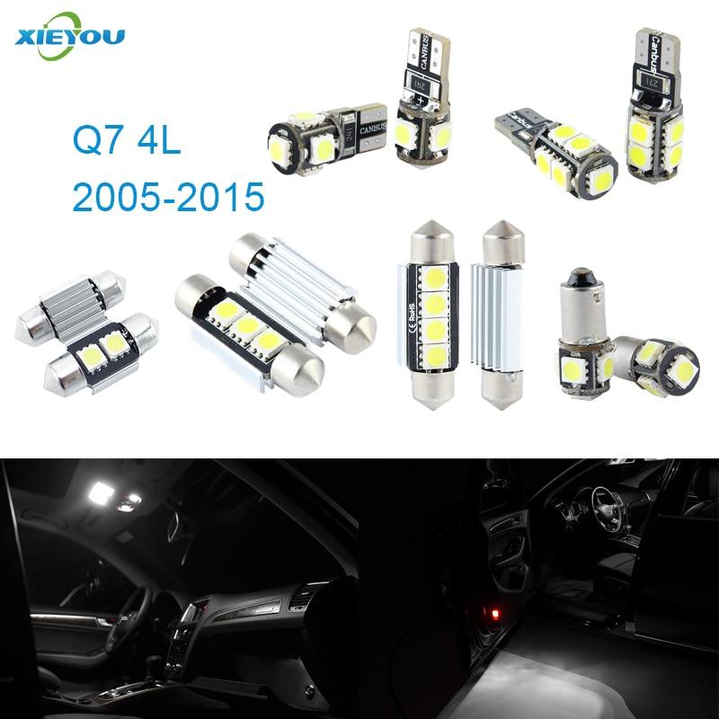Canbus Kit de luces interiores LED paquete 16 Uds para Audi Q7 4L (2005-2015)