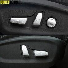Para Hyundai Tucson 2016-2019, interruptor de ajuste Interior cromado, botón de Control de perilla del asiento, cubierta de guarnición moldura estilo de coche