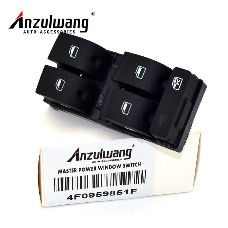 ANZULWANG 4F0 959 851 F 4F0959851F, botón de Control de ventana principal del controlador lateral para Audi1 A6 A3 Q7 2004-2011