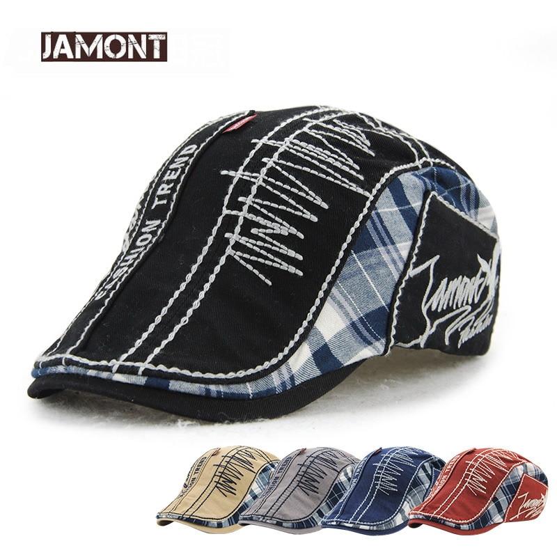 JAMONT 2018 New Design Berets Cap Men Women Visors Casual Flat Caps Bone Fashion Trend Embroidery Beret Hat Casquette