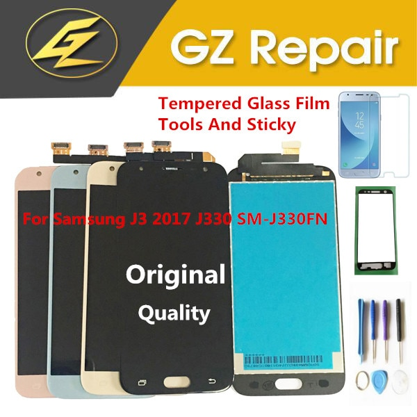 Original For Samsung Galaxy J3 2017 J330 SM-J330 J330FN SM-J330 SM-J330FN LCD Display+Touch Sensor Glass Digitizer With Kits