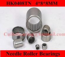 free shipping HK0408 needle bearing 4* 8 * 8  HK0408  bearing