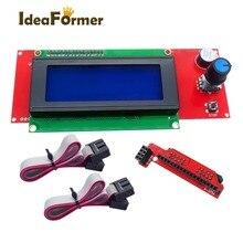 1 ensemble LCD 2004 panneau de commande daffichage contrôleur intelligent pour pièces dimprimante 3D Reprap Makerbot Kossel Prusa i3 RAMPS1.4 Mega2560