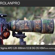 ROLANPRO Lens Camouflage Jas Regenhoes voor Sigma APO 120-300mm f/2.8 DG OS HSM Lens beschermhoes Lens Bescherming Mouw