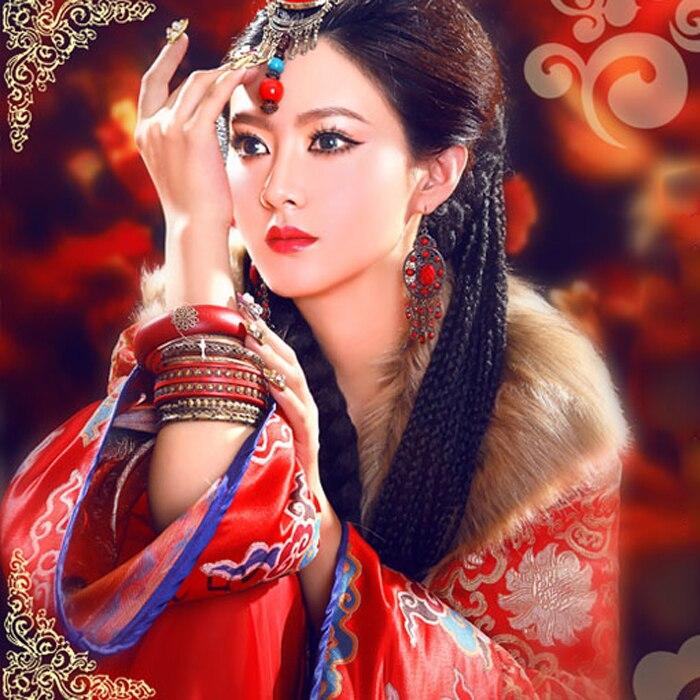 Wu Lan Tuo Ya Estilo exótico princesa mongol disfraz Cosplay Hanfu para mujeres