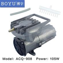 BOYU elektromanyetik DC araç oksijen pompası 105 W pompa. DC 12 V Elemental O2 hava pompası Akvaryum Gölet Aquaponics Hidroponik