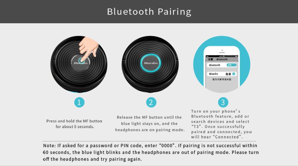 T3 wireless bluetooth bluedio słuchawki/słuchawki z bluetooth 4.1 stereo i mikrofon dla muzyki słuchawki bezprzewodowe 22