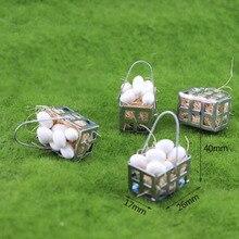 1 pc kawaii 1/12 dollhouse 소형 부속품 소형 백색 계란 바구니 모형 인형 집 부속품 장난감 아이 선물