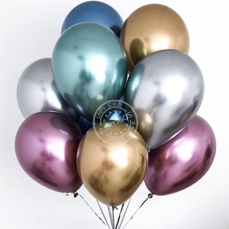 1 Набор 50 шт 5/10 дюймов новые хромированные шары из латекса цвета металлик металлические глобусы надувные гелиевые шары для дня рождения Декор баллон-1