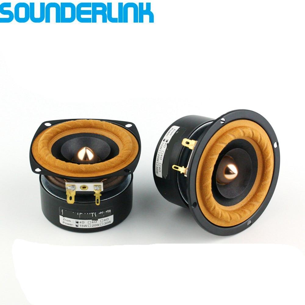 2 TEILE/LOS Sounderlink AudioLabs 3 zoll Vollständige Palette woofer Hallo-fi Lautsprecher hochtöner einheit Medium bass kugel pfeil wandler