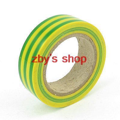 Cinta aislante de PVC verde amarillo 20M 65.6Ft para Cable eléctrico