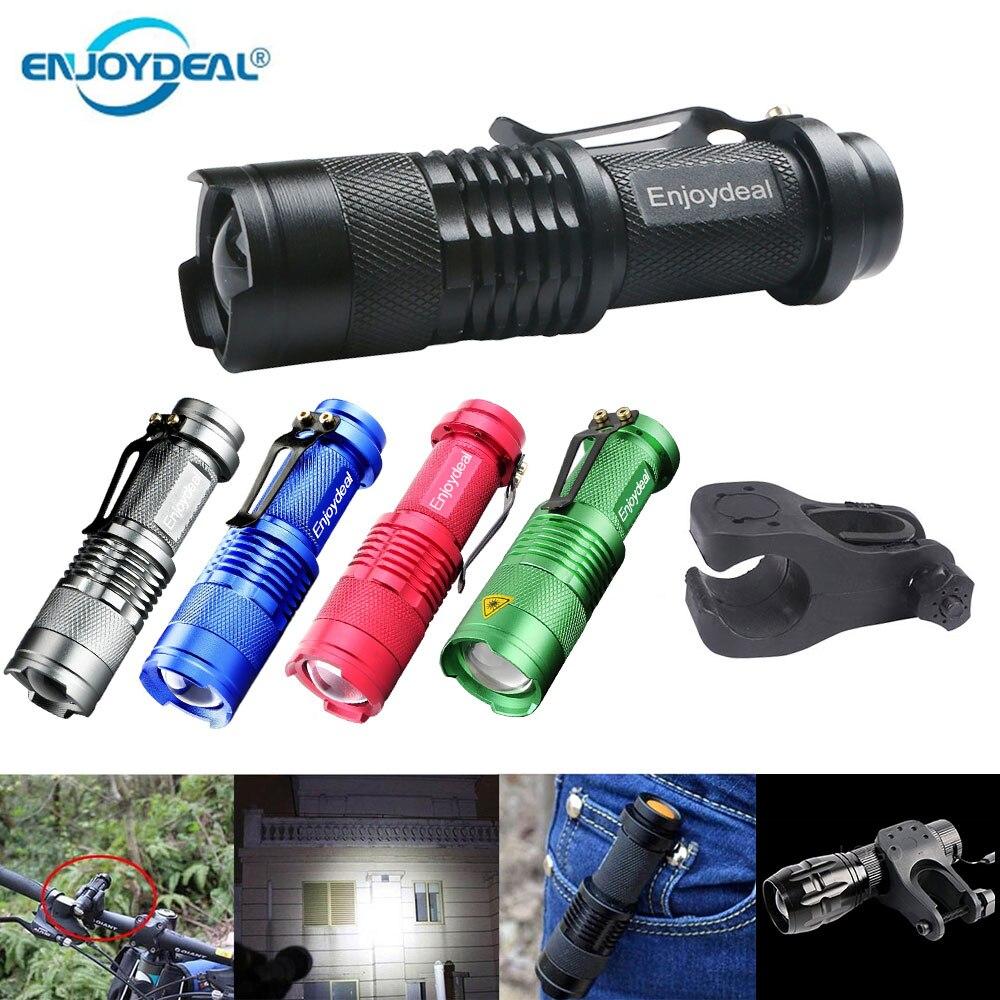 Mini linterna LED 2000LM Q5 linterna LED linterna AA ajustable de enfoque con zoom linterna impermeable para exteriores 1/3 modos