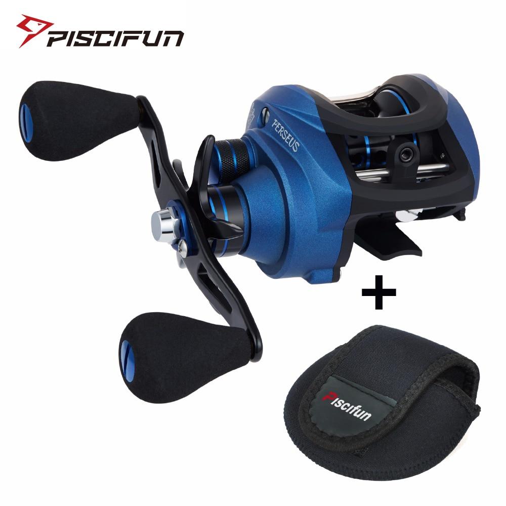 Piscifun Perseus Fishing Reel 8.4KG Max Drag Magnetic brake+centrifugal brake 6 Bearings Light fishing Graphite Baitcasting reel