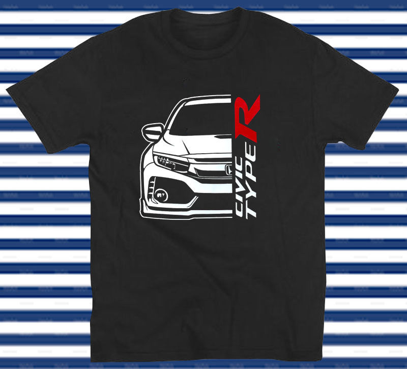 Hon Fk8 Civic Tipo R Jdm camiseta hombres 2019 verano moda cuello redondo Hip Hop camisetas impresas de manga corta