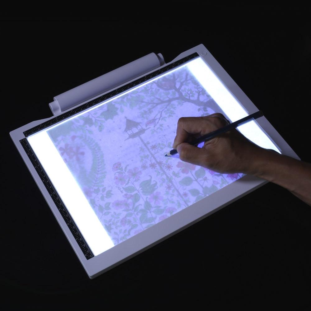 Электронный планшет для рисования, цифровой графический планшет USB A4 светодиодный светильник, коробка для черчения, доска для рисования