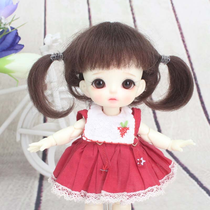 Accesorios de muñeca peluca 5 colores bonita BJD 1/8 peluca para muñecas BJD