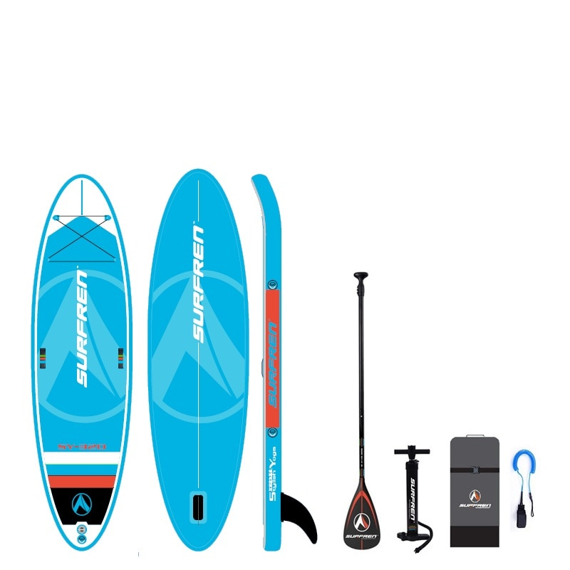 Inflatable Surf Stand Up SUP paddle board iSUP Surfing Paddleboard SURFREN All Round SY-320 Yogoboard kayakboat size320*86*15cm