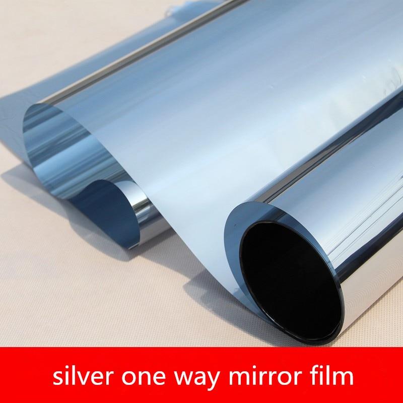 Film de fenêtre miroir argenté   40/50x200cm, isolation thermique, résistant aux UV, confidentialité, utilisation fenêtre de bureau à domicile