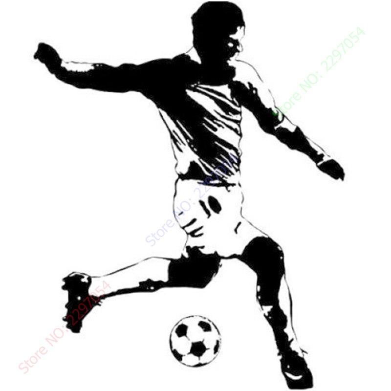 RoomMates Soccer Player Peel & Stick Giant Wall Decal Football StarsPVC Vinyl Wall Sticker Size 84x110cm