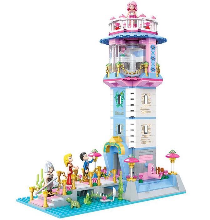 Nuevo Modelo de bloques de construcción de torre de hechizo de la princesa sirena, ladrillos de juguete educativos, el mejor regalo para niñas